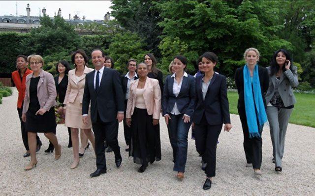 Femmes ministres gouvernement Hollande 2012