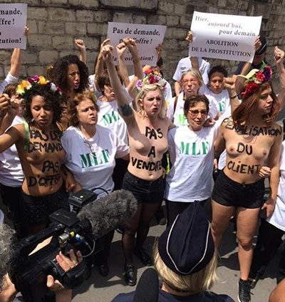 Femen MLF contre prostitution 2015