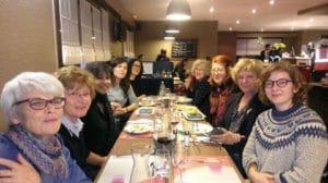 """Aux rendez-vous de l'Histoire de Blois , un dîner militant Taslima Nasreen, Femen , des femmes -Antoinette Fouque , alliance des femmes pour la démocratie . Plaisir de nous retrouver avant la table ronde de demain sur """"l'hospitalité charnelle """"."""