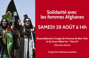 Rassemblement pour sauver les femmes afghanes